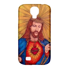Sacred Heart Of Jesus Christ Drawing Samsung Galaxy S4 Classic Hardshell Case (pc+silicone) by KentChua