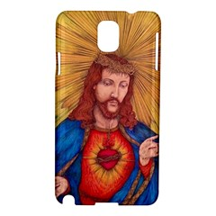 Sacred Heart Of Jesus Christ Drawing Samsung Galaxy Note 3 N9005 Hardshell Case by KentChua