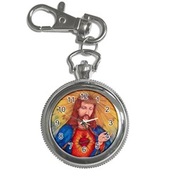 Sacred Heart Of Jesus Christ Drawing Key Chain Watches by KentChua