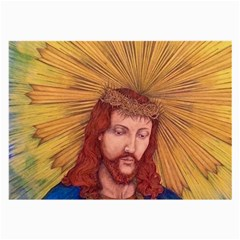 Sacred Heart Of Jesus Christ Drawing Large Glasses Cloth (2 Side) by KentChua