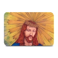 Sacred Heart Of Jesus Christ Drawing Plate Mats by KentChua