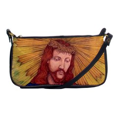 Sacred Heart Of Jesus Christ Drawing Shoulder Clutch Bags by KentChua