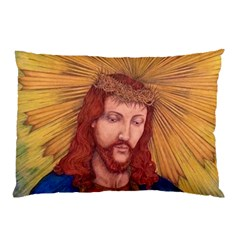 Sacred Heart Of Jesus Christ Drawing Pillow Cases (two Sides) by KentChua