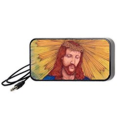 Sacred Heart Of Jesus Christ Drawing Portable Speaker (black)  by KentChua