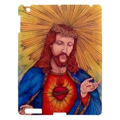 Sacred Heart Of Jesus Christ Drawing Apple Ipad 3/4 Hardshell Case by KentChua