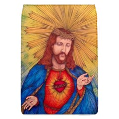 Sacred Heart Of Jesus Christ Drawing Flap Covers (l)  by KentChua