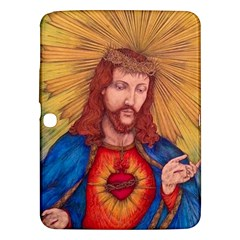 Sacred Heart Of Jesus Christ Drawing Samsung Galaxy Tab 3 (10.1 ) P5200 Hardshell Case  by KentChua
