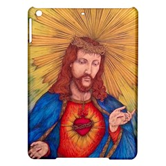 Sacred Heart Of Jesus Christ Drawing Ipad Air Hardshell Cases by KentChua