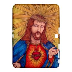 Sacred Heart Of Jesus Christ Drawing Samsung Galaxy Tab 4 (10 1 ) Hardshell Case  by KentChua