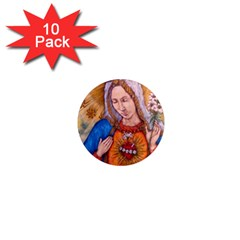 Immaculate Heart Of Virgin Mary Drawing 1  Mini Magnet (10 Pack)  by KentChua