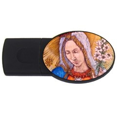 Immaculate Heart Of Virgin Mary Drawing Usb Flash Drive Oval (4 Gb)  by KentChua