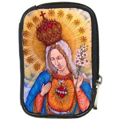 Immaculate Heart Of Virgin Mary Drawing Compact Camera Cases by KentChua