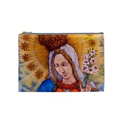 Immaculate Heart Of Virgin Mary Drawing Cosmetic Bag (medium)  by KentChua