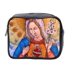 Immaculate Heart Of Virgin Mary Drawing Mini Toiletries Bag 2 Side by KentChua