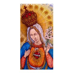 Immaculate Heart Of Virgin Mary Drawing Shower Curtain 36  X 72  (stall)  by KentChua