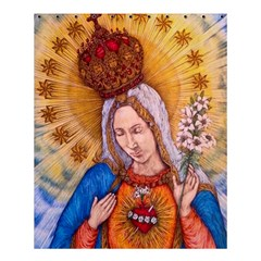 Immaculate Heart Of Virgin Mary Drawing Shower Curtain 60  X 72  (medium)  by KentChua