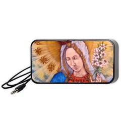 Immaculate Heart Of Virgin Mary Drawing Portable Speaker (black)  by KentChua