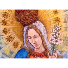 Immaculate Heart Of Virgin Mary Drawing Birthday Cake 3d Greeting Card (7x5)  by KentChua