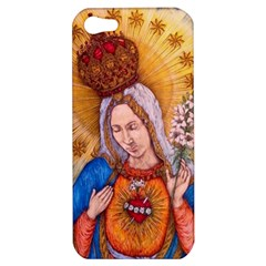 Immaculate Heart Of Virgin Mary Drawing Apple Iphone 5 Hardshell Case by KentChua