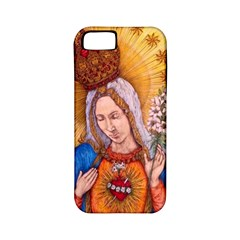 Immaculate Heart Of Virgin Mary Drawing Apple Iphone 5 Classic Hardshell Case (pc+silicone) by KentChua