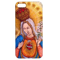 Immaculate Heart Of Virgin Mary Drawing Apple Iphone 5 Hardshell Case With Stand by KentChua