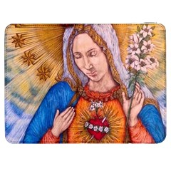 Immaculate Heart Of Virgin Mary Drawing Samsung Galaxy Tab 7  P1000 Flip Case by KentChua
