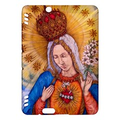 Immaculate Heart Of Virgin Mary Drawing Kindle Fire Hdx Hardshell Case by KentChua