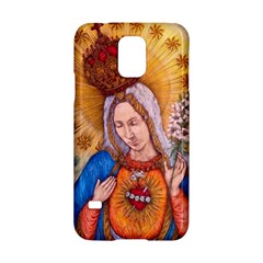 Immaculate Heart Of Virgin Mary Drawing Samsung Galaxy S5 Hardshell Case  by KentChua