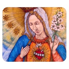 Immaculate Heart Of Virgin Mary Drawing Double Sided Flano Blanket (Small)  by KentChua