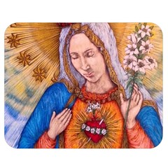 Immaculate Heart Of Virgin Mary Drawing Double Sided Flano Blanket (medium)  by KentChua