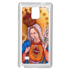 Immaculate Heart Of Virgin Mary Drawing Samsung Galaxy Note 4 Case (white) by KentChua