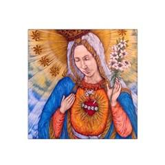Immaculate Heart Of Virgin Mary Drawing Satin Bandana Scarf by KentChua