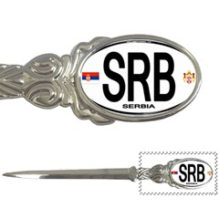 SRB - Serbia Euro Oval Letter Opener by intlgiftshop