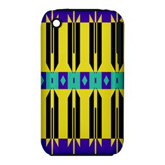 Rhombus And Other Shapes Pattern apple Iphone 3g/3gs Hardshell Case (pc+silicone) by LalyLauraFLM