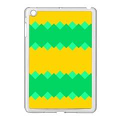 Green Rhombus Chains apple Ipad Mini Case (white) by LalyLauraFLM