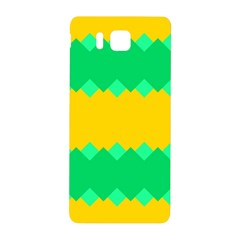 Green Rhombus Chains 			samsung Galaxy Alpha Hardshell Back Case by LalyLauraFLM
