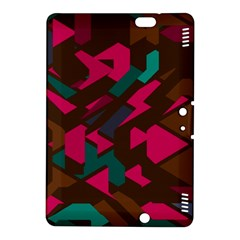 Brown Pink Blue Shapes kindle Fire Hdx 8 9  Hardshell Case by LalyLauraFLM