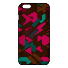 Brown pink blue shapes 			iPhone 6 Plus/6S Plus TPU Case by LalyLauraFLM