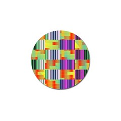 Vertical And Horizontal Stripes golf Ball Marker by LalyLauraFLM