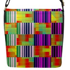 Vertical And Horizontal Stripes flap Closure Messenger Bag (s) by LalyLauraFLM