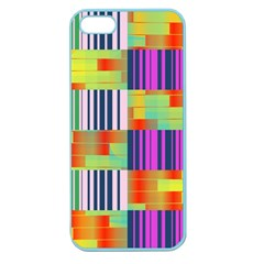 Vertical And Horizontal Stripes apple Seamless Iphone 5 Case (color) by LalyLauraFLM
