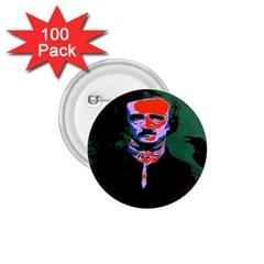 Edgar Allan Poe Pop Art  1 75  Buttons (100 Pack)  by icarusismartdesigns