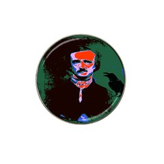 Edgar Allan Poe Pop Art  Hat Clip Ball Marker (10 Pack) by icarusismartdesigns