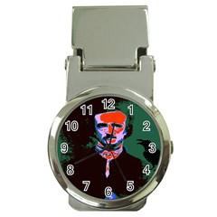 Edgar Allan Poe Pop Art  Money Clip Watches by icarusismartdesigns