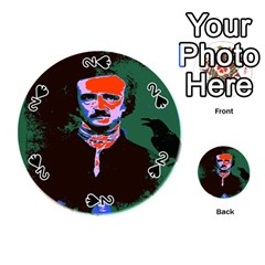 Edgar Allan Poe Pop Art  Playing Cards 54 (round)  by icarusismartdesigns