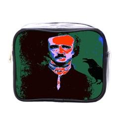 Edgar Allan Poe Pop Art  Mini Toiletries Bags by icarusismartdesigns