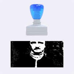 Edgar Allan Poe Pop Art  Rubber Stamps (medium)  by icarusismartdesigns