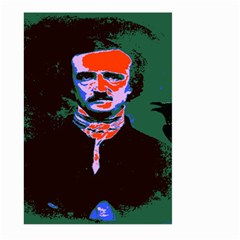 Edgar Allan Poe Pop Art  Large Garden Flag (Two Sides) by icarusismartdesigns