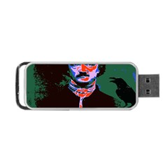 Edgar Allan Poe Pop Art  Portable Usb Flash (one Side) by icarusismartdesigns