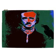 Edgar Allan Poe Pop Art  Cosmetic Bag (xxl)  by icarusismartdesigns